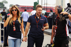 (Da sinistra a destra): Federica Masolin, Sky F1 Italia Presenter con Davide Valsecchi, Sky F1 Italia Presenter