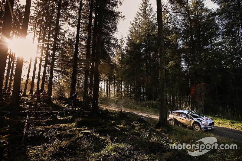 Elfyn Evans en Daniel Barrit, M-Sport Ford Fiesta WRC