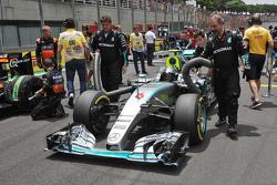 Nico Rosberg, Mercedes AMG F1 W06 op de grid