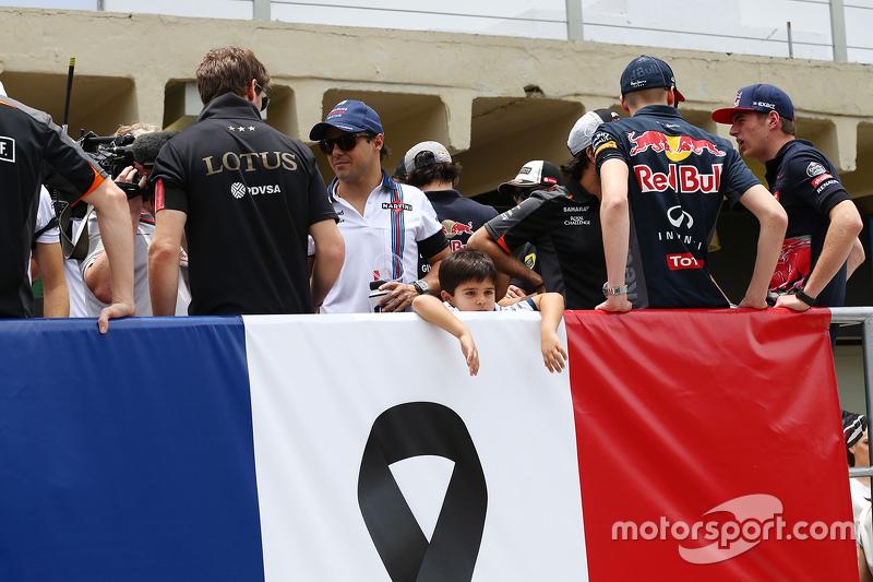 Felipinho Massa, Sohn von Felipe Massa, Williams, bei der Fahrerparade