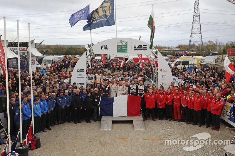 WRC - Les équipes observent une minute de silence en hommage aux victimes