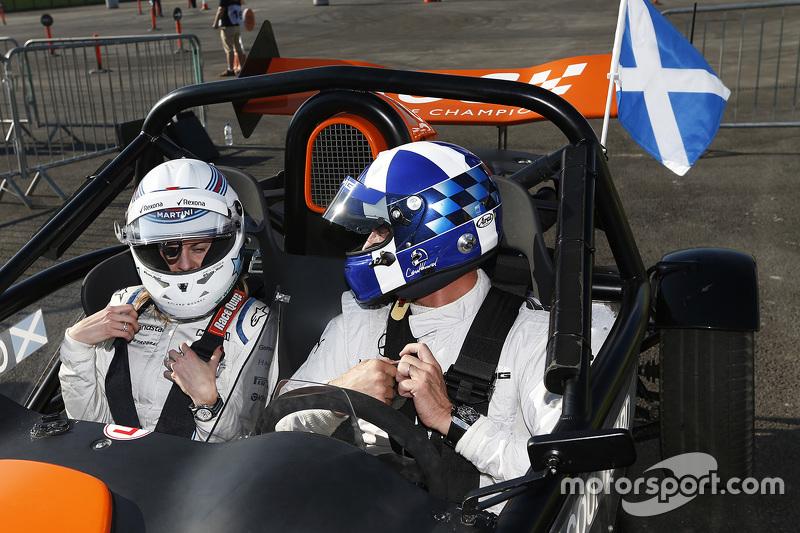 Susie Wolff und David Coulthard