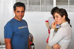 Juan Pablo Montoya and Tatiana Calderon