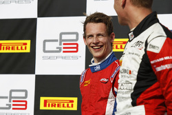 Race 1 Podium: second place Emil Bernstorff, Arden International