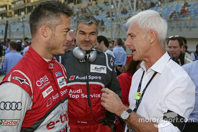 Маттіас Мюллер, Генеральний директор Volkswagen AG, Дітер Гасс, Deputy Head of Audi Motorsport, Андре Лоттерер