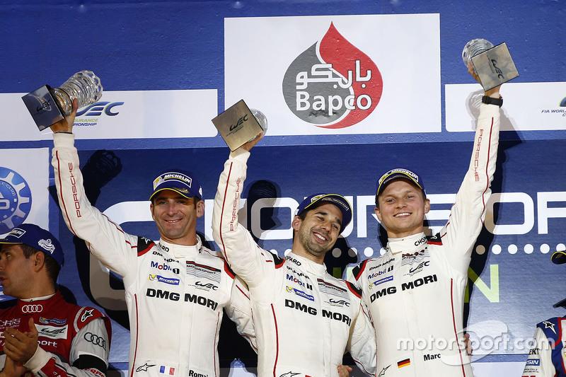 Podium: 1. Romain Dumas, Neel Jani, Marc Lieb, Porsche Team