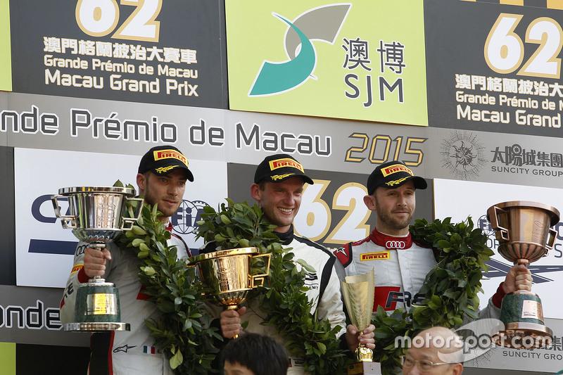 Podium: winner Maro Engel, Mercedes AMG Driving Academy, second place Edoardo Mortara, Audi Sport Team Phoenix, third place René Rast, Audi Sport Team WRT