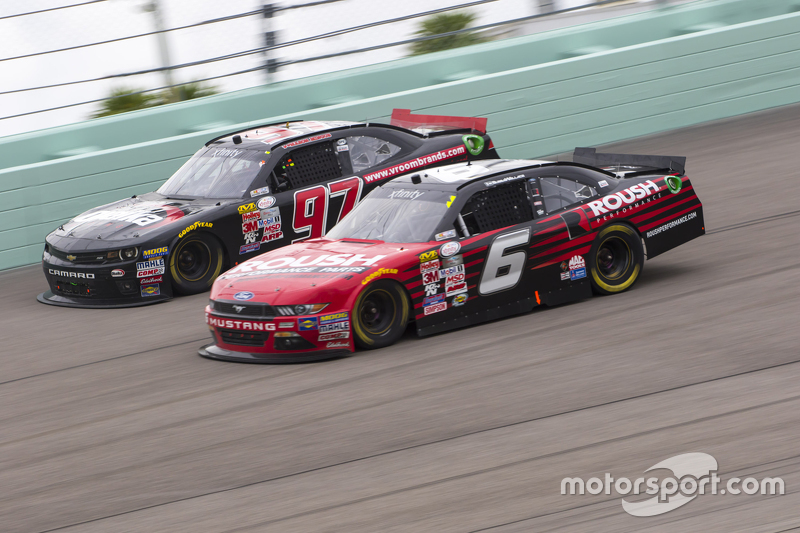 Ryan Reed, Roush Fenway Racing Ford and Mason Mingus, Obaika Racing Chevrolet
