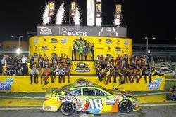 Championship Victory lane: 2015 NASCAR Spring Cup Champion Kyle Busch, Joe Gibbs Racing