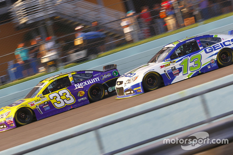 Ty Dillon, Chevrolet; Casey Mears, Germain Racing Chevrolet