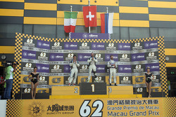 Podium: winner and TCR 2016 Champion Stefano Comini, SEAT Leon, Target Competition, second place And