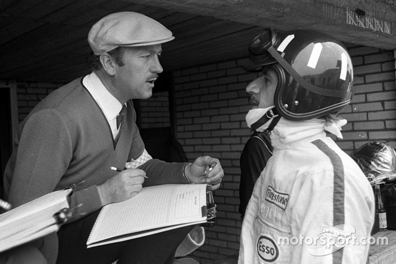Colin Chapman and Graham Hill