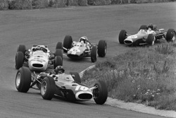 Graham Hill, Richie Ginther, Jim Clark, Dan Gurney