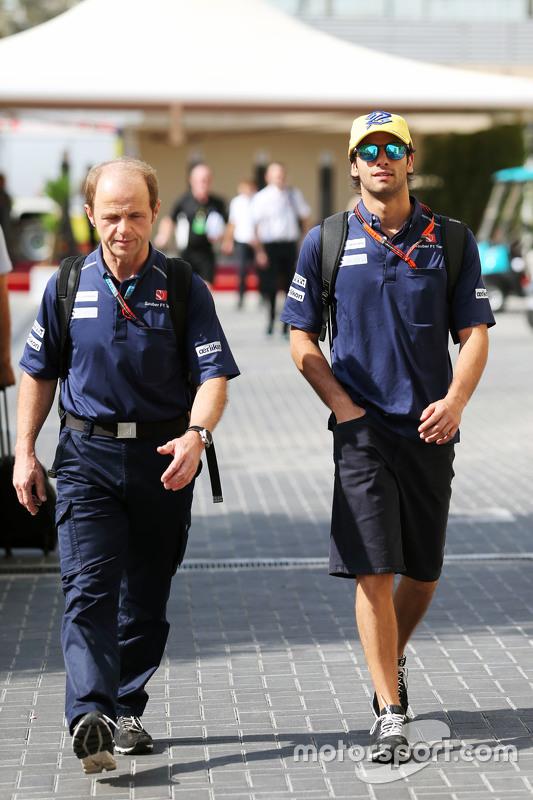 Felipe Nasr, Sauber F1 Team met Joseph Lieberer, Sauber Physio