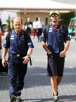Felipe Nasr, Sauber F1 Team, mit Joseph Lieberer, Sauber-Physiotherapeut