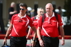 (L to R): Graeme Lowdon, Manor Marussia F1 Team Chief Executive Officer with John Booth, Manor Marussia F1 Team Team Principal
