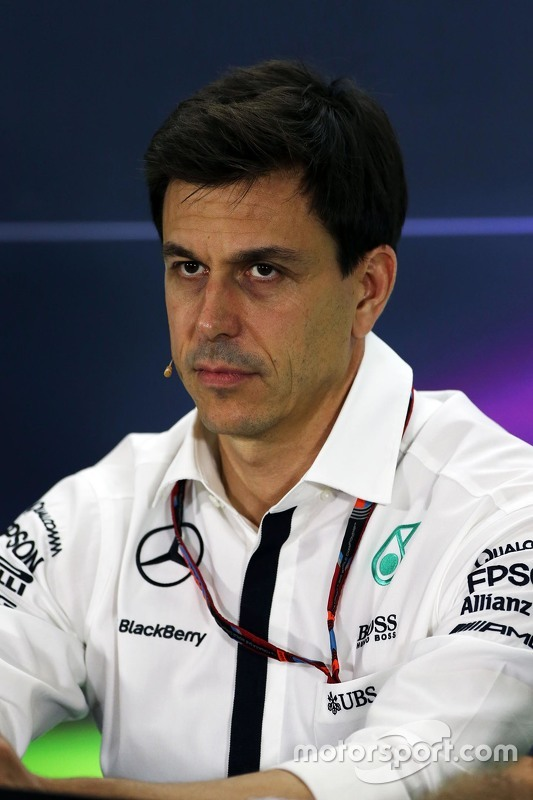 Toto Wolff, Mercedes AMG F1 in de FIA persconferentie