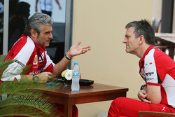 (L to R): Maurizio Arrivabene, Ferrari Team Principal with James Allison, Ferrari Chassis Technical Director
