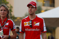 Sebastian Vettel, Ferrari con Britta Roeske, Ufficio Stampa Ferrari