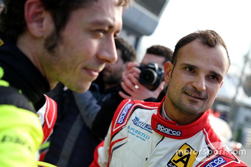 Vitantonio Liuzzi and Valentino Rossi