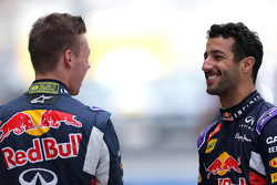 Daniel Ricciardo, Red Bull Racing y Daniil Kvyat, Red Bull Racing