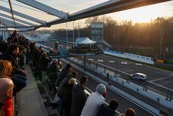 Action bei der Rally-Show in Monza