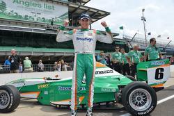 Timothe Buret, Pro Mazda race winner at Indianapolis