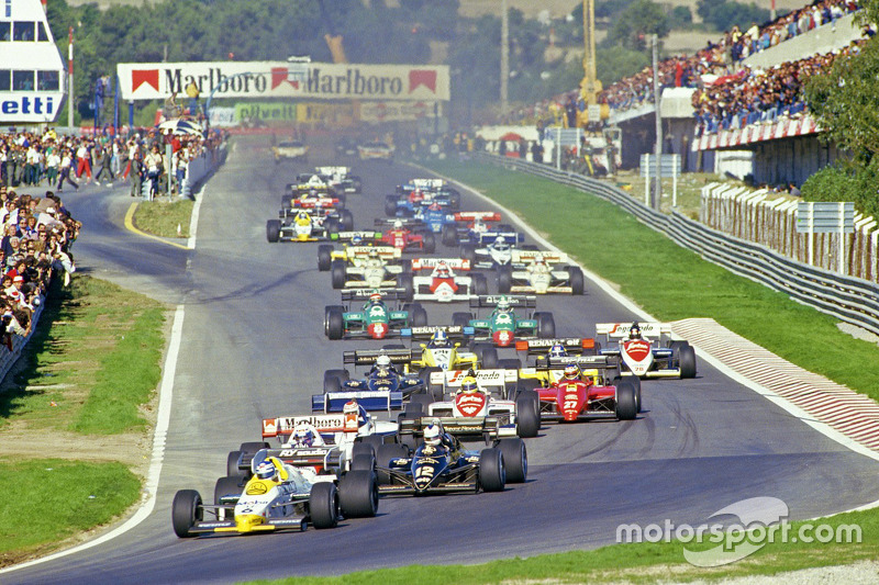 Départ : Keke Rosberg, Williams mène