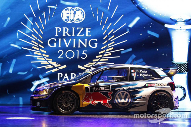 The title-winning #1 Volkswagen Polo WRC.