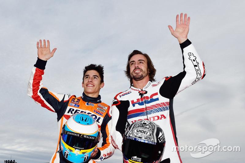 Marc Marquez en Fernando Alonso