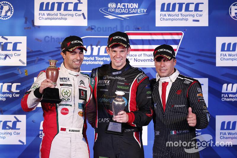 Podium: Mehdi Bennani, Sébastien Loeb Racing, Tom Chilton, ROAL Motorsport and Stefano D'Aste, Münnich Motorsport