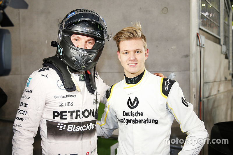 Nico Rosberg and Mick Schumacher