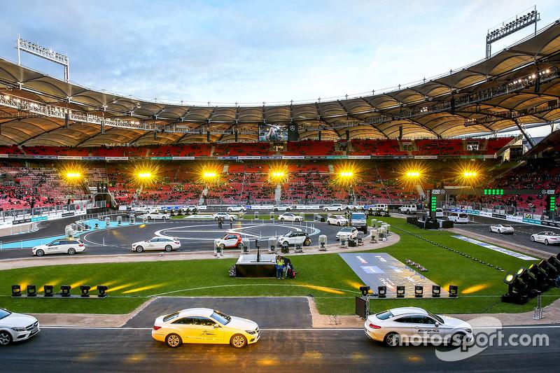 Mercedes cars at Mercedes Benz Arena