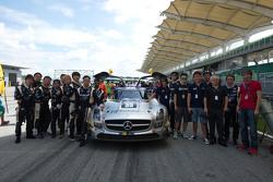 #35 Team AAI Mercedes SLS AMG GT3: Han-Chen Chen, Nobuteru Taniguchi, Hiroki Yoshimoto, Tatsuya Tani
