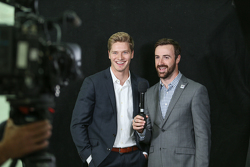 James Hinchcliffe and Josef Newgarden