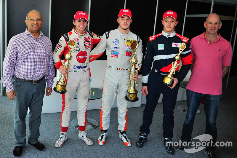 Winner Alessio Picariello, second place Pietro Fittipaldi, third place Nikita Troitskiy and Adrian N