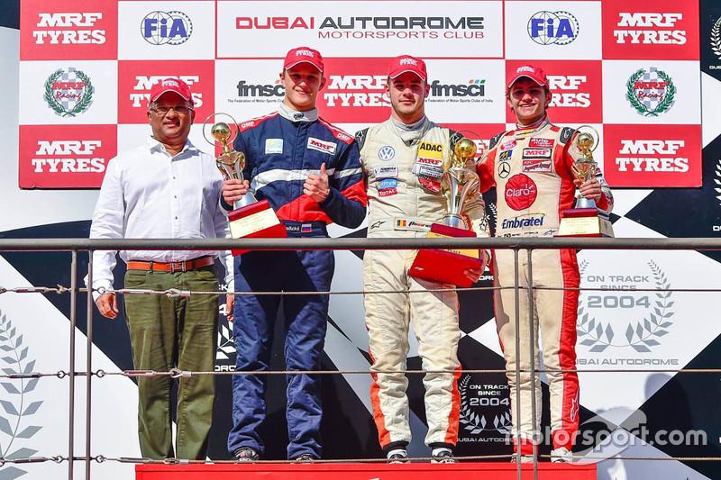 Podium: Winner Alessio Picariello, second place Nikita Troitskiy, third place Pietro Fittipaldi