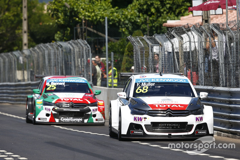 Yvan Muller, Citroën C-Elysee WTCC, tim Citroën World Touring Car , dan Mehdi Bennani, Citroën C-Elysee WTCC, Sébastien Loeb Racing