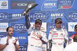 Podium: second place Yvan Muller, Citroën World Touring Car team