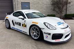 Muehlner Motorsports America Porsche Cayman that will compete в Continental Sports Car Challenge