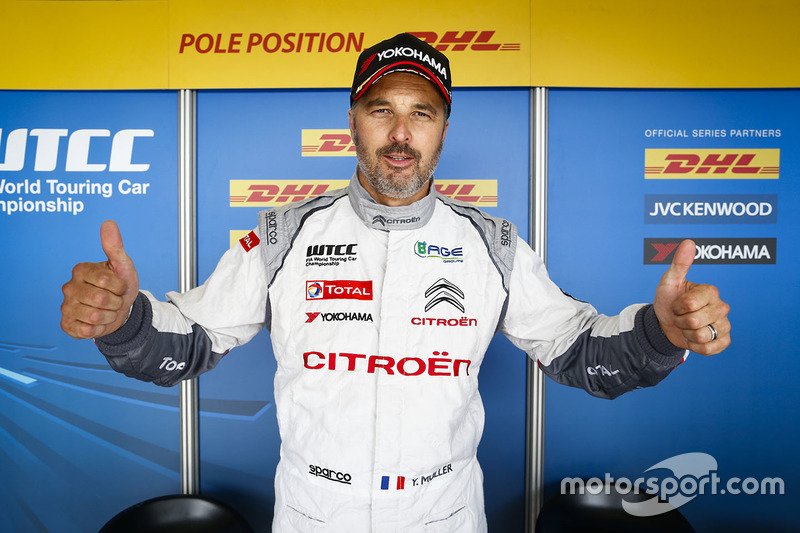 Polesitter Yvan Muller, Citroën C-Elysee WTCC, Citroën World Touring Car team