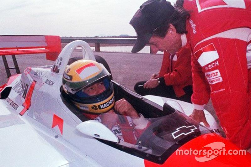 Ayrton Senna et Emerson Fittipaldi