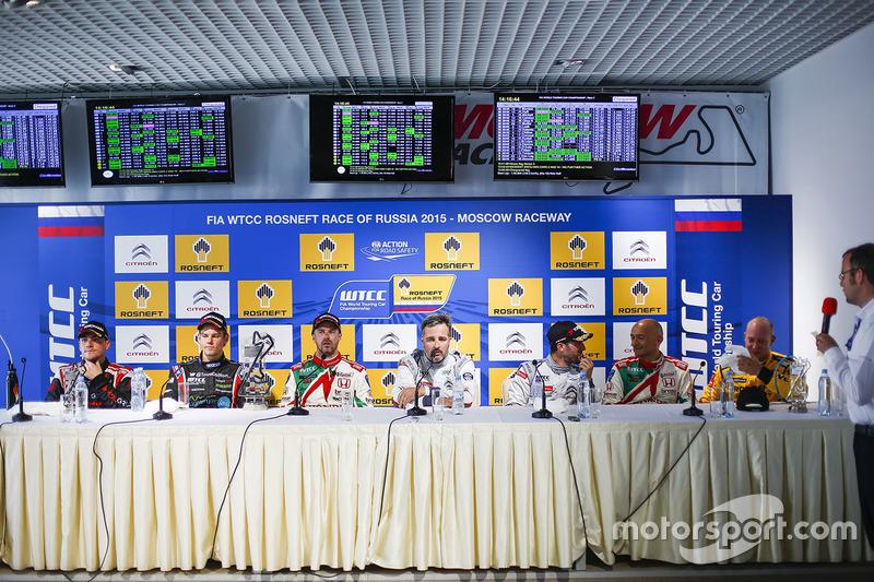 Press conference: Norbert Michelisz, Honda Civic WTCC, Zengo Motorsport, Tom Chilton, Chevrolet RML