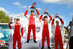 Podium: race winner Olivier Bédard, second place Thanaroj Thanasitnitikate, third place Stefan Rzadzinski and Olivier Pelletier