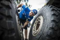 Ayrat Mardeev of Team KAMAZ-master works  during the rest day of Rally Dakar