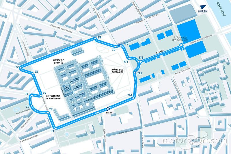 Paris ePrix track layout