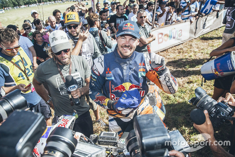Ganador de la categoría de motos Toby Price, KTM