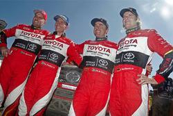 #301 Toyota: Giniel de Villiers, Dirk Von Zitzewitz, #319 Toyota: Leeroy Poulter, Robert Howie