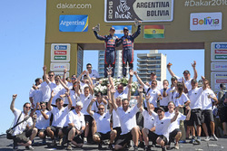 Car category second place Nasser Al-Attiyah and Matthieu Baumel