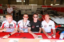 #23 MRS GT-Racing Nissan GT-R NISMO GT3: Marc Gassner, Florian Strauss and #22 MRS GT-Racing Nissan GT-R NISMO GT3: Dominic Jöst, Florian Scholze